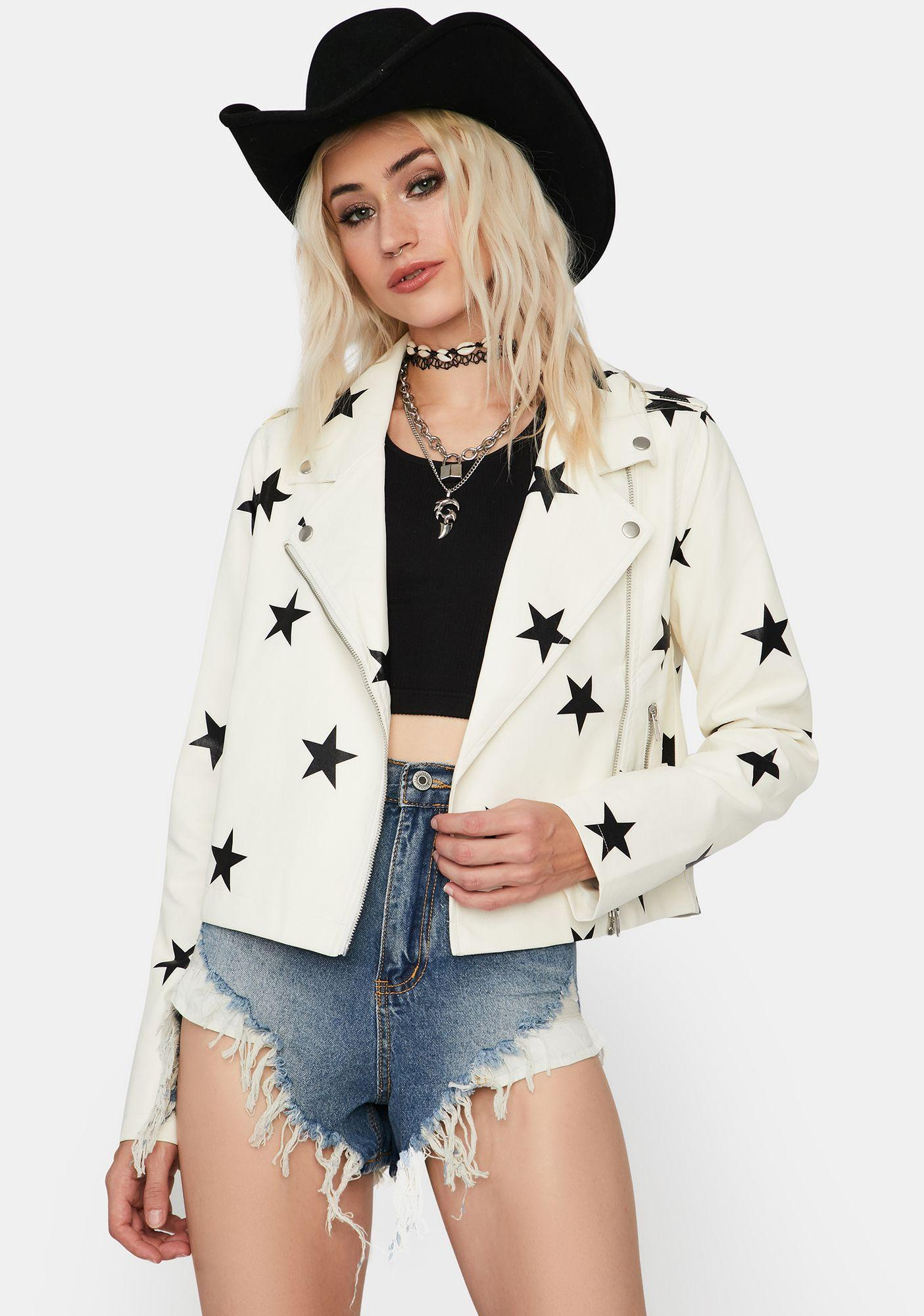 Pure Starry Eyed Surprise Moto Jacket