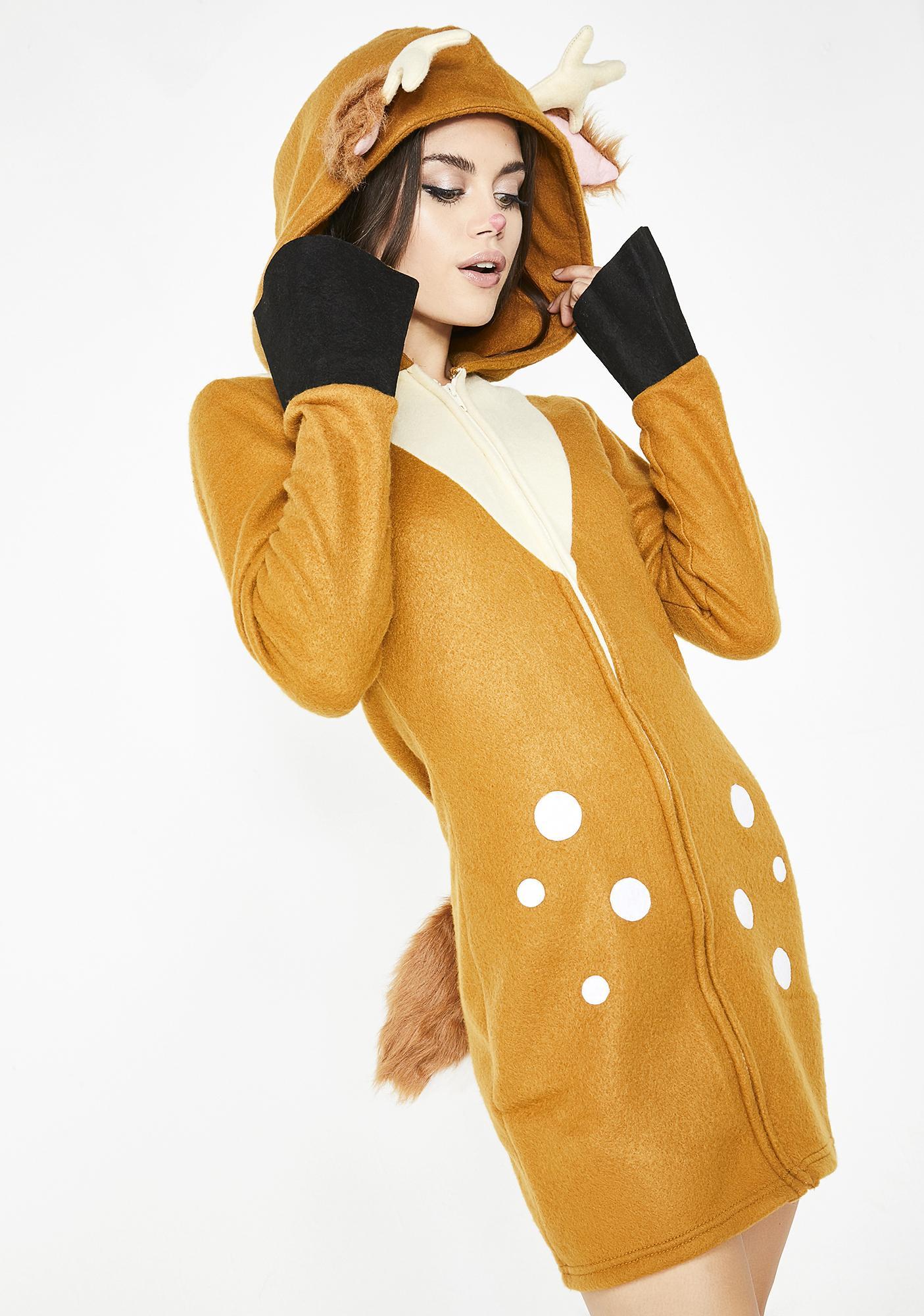 Flirty Fawn Hooded Dress