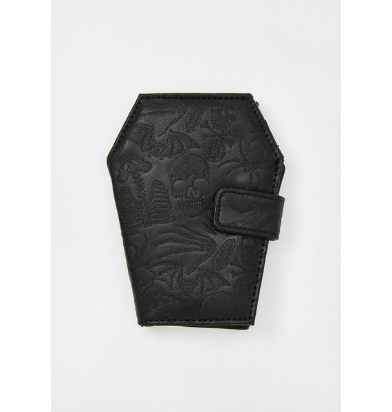 Kreepsville 666 Embossed Skull Coffin Wallet