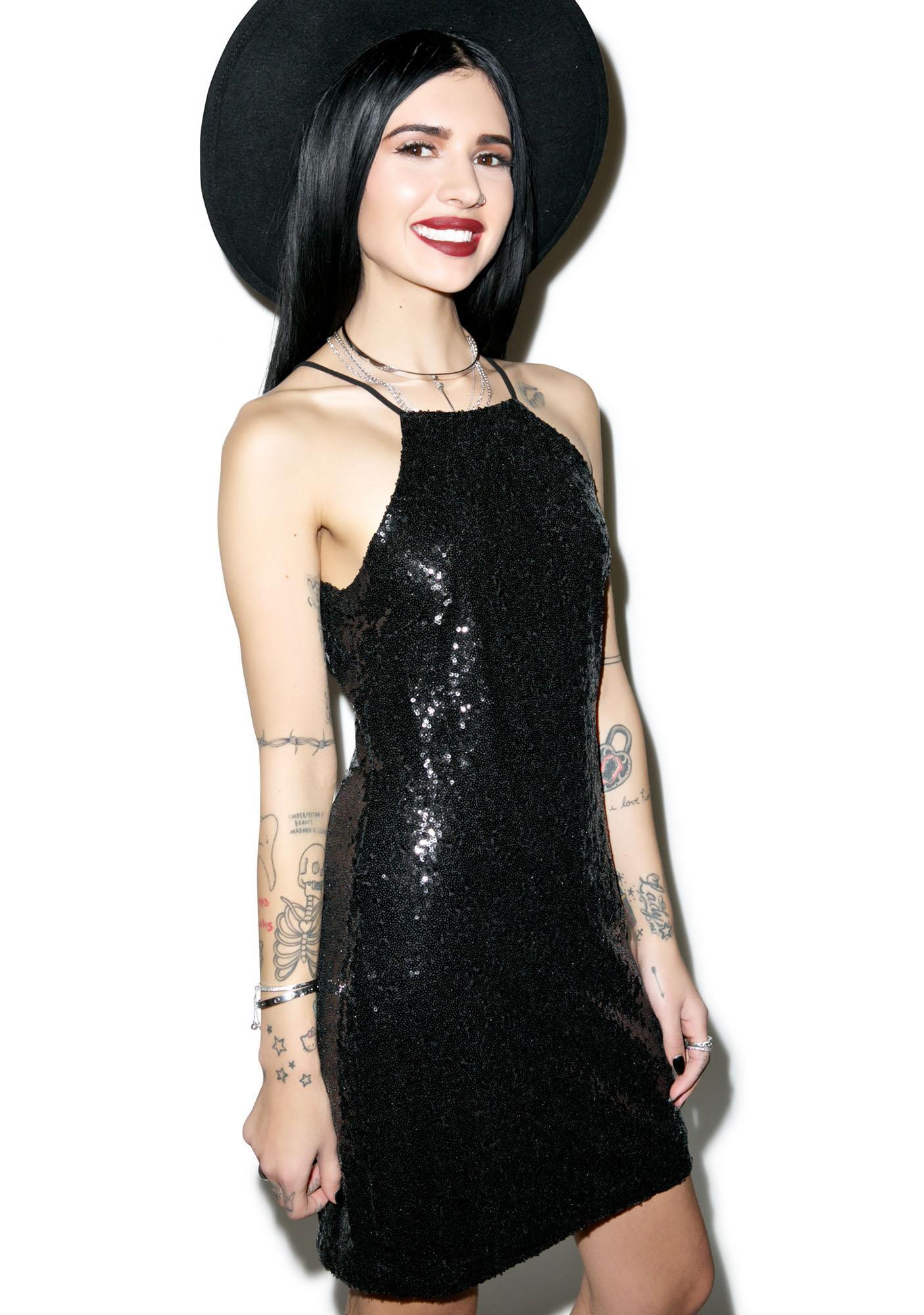 Glamorous Cuz I'm Strappy Sequin Dress