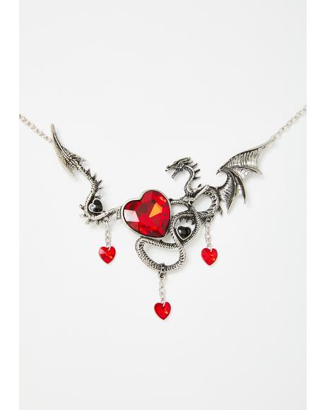 Legendary Heart Keeper Dragon Necklace