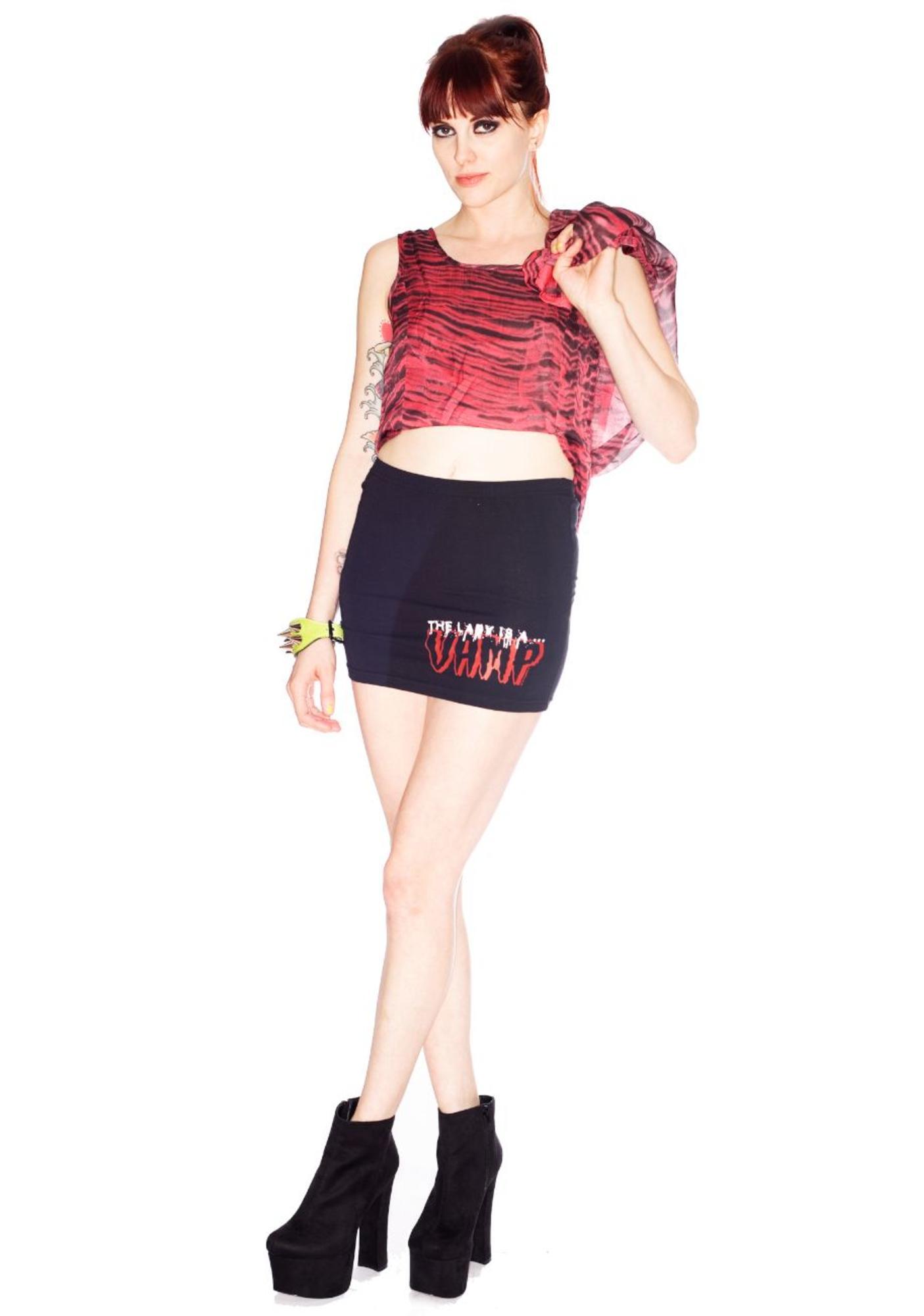 Kreepsville 666 Lady Is A Vamp Mini Skirt