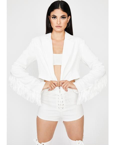 Pure Fringe Benefits Cropped Jacket