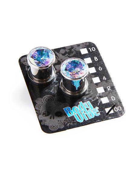 Aurora Borealis Screw Fit Plugs