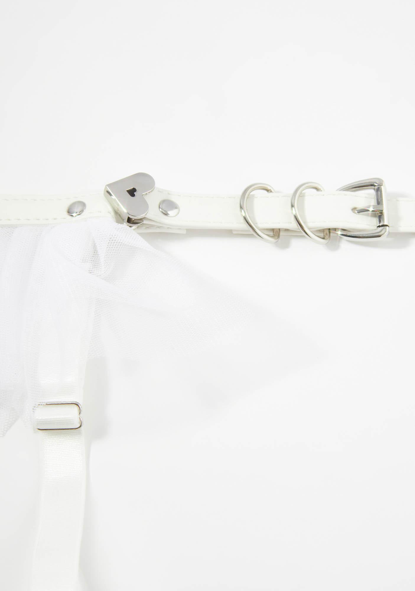 Do The Splits Tulle Ruffle Garter Belt
