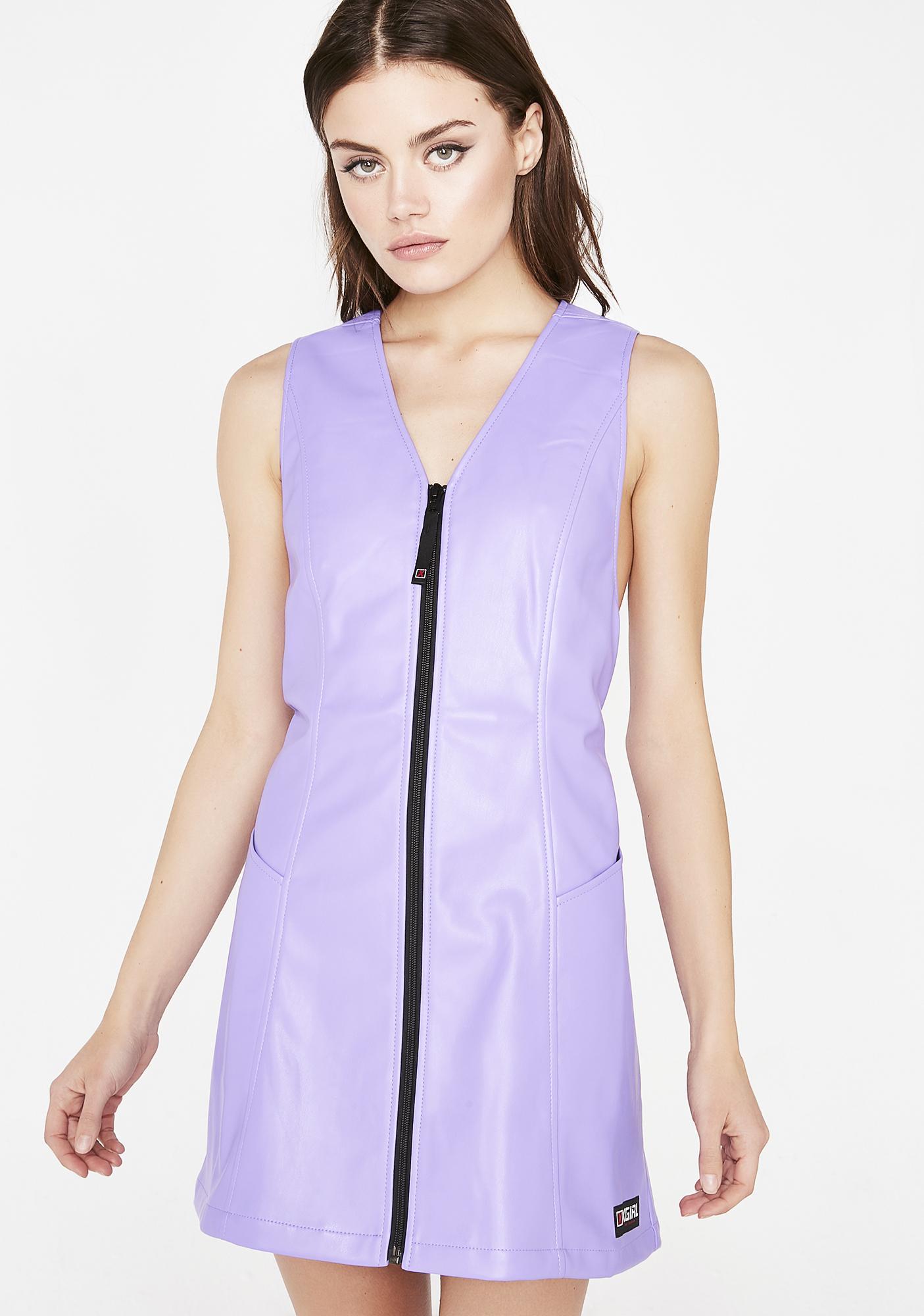 x-Girl Vegan Leather Retro Dress