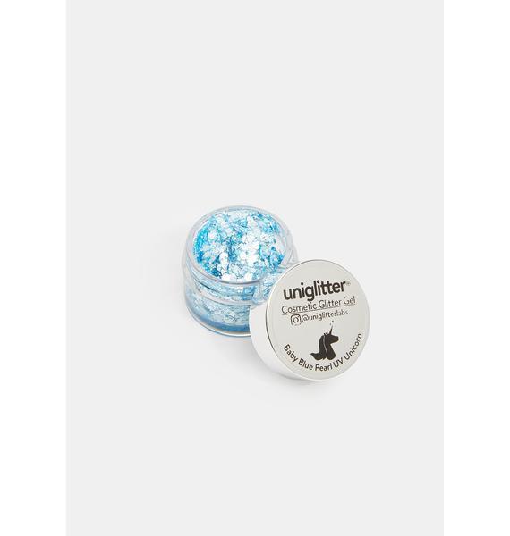 Uniglitter Baby Blue Pearl UV Unicorn Glitter Gel