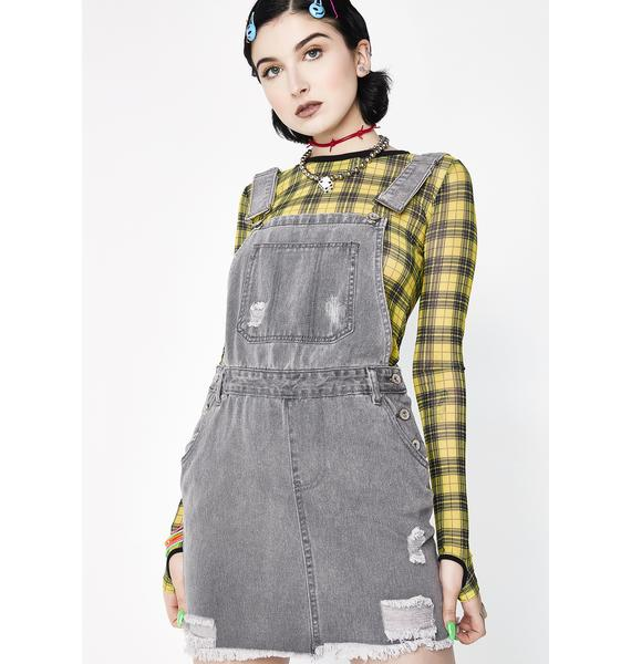 Faded Memories Overall Dress