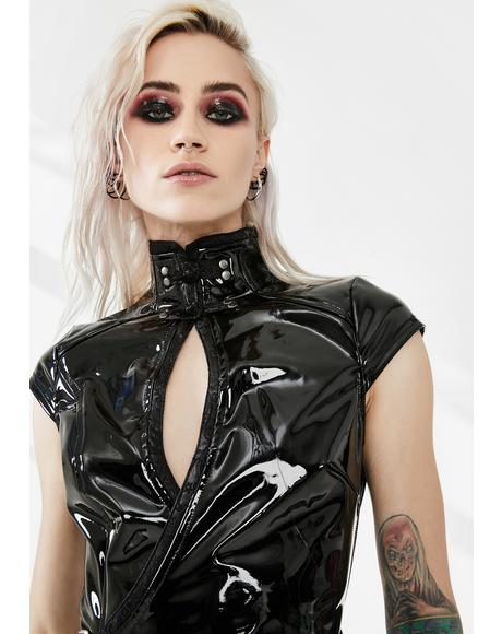 Sci Fi Punk Patent Vinyl Dress