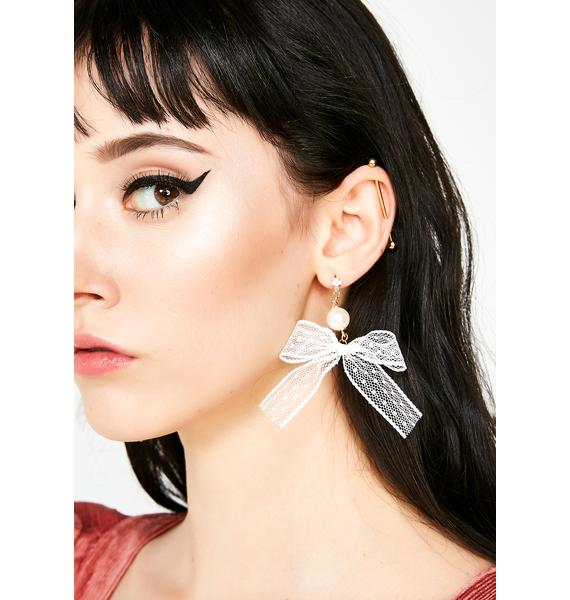 Invited Guest Bow Earrings