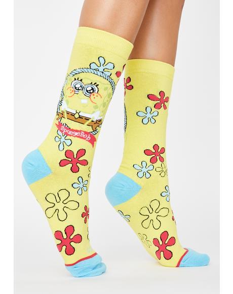 Baby Spongebob Crew Socks