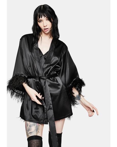 Naughty Nightmare Satin Robe