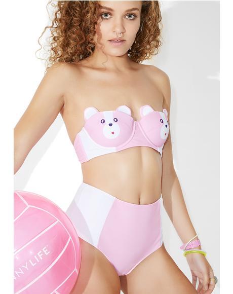 Bear Boob Bikini Top