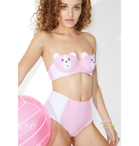 Lazy Oaf Bear Boob Bikini Top