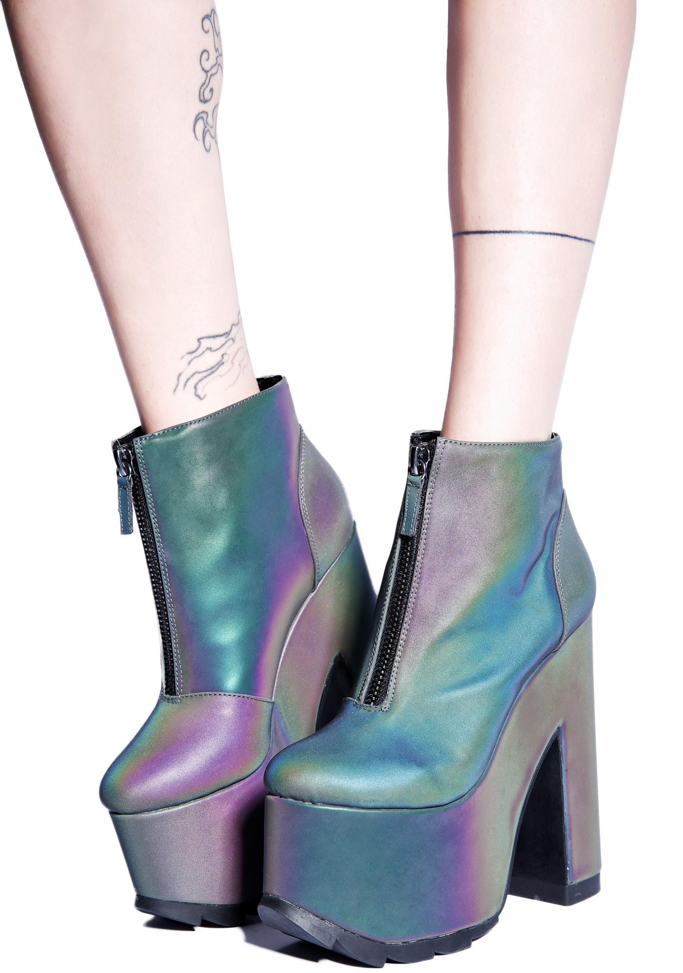 YRU Nightmare Shoe in Reflective 6, Reflective
