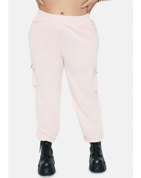 Blush Let's Set And Go Cargo Joggers
