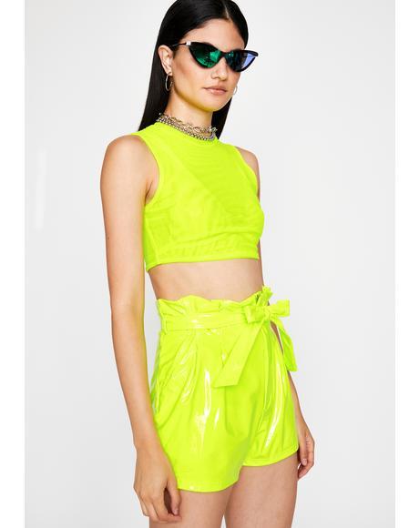 Toxic Candy Wrapper Vinyl Shorts