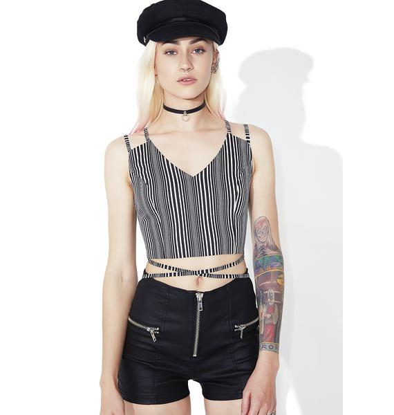 As I Am  Lexi Striped Crop Top
