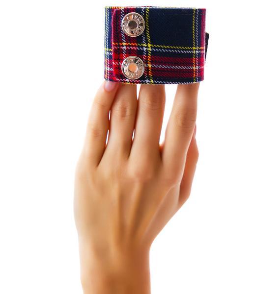 Club Exx God Save the Queen Plaid Bracelet
