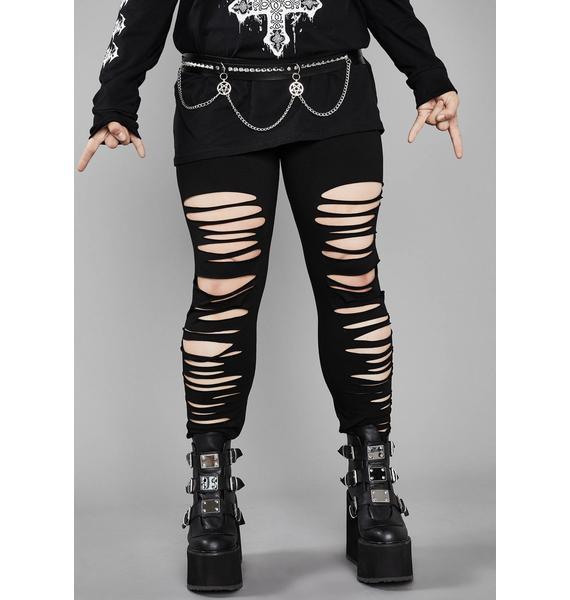 Widow Sacred Crypt Creeper Shredded Leggings