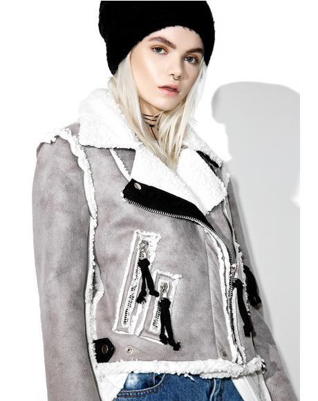Olivier Faux Shearling Jacket