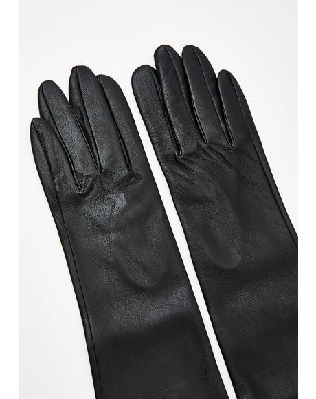 Mya Faux Leather Gloves