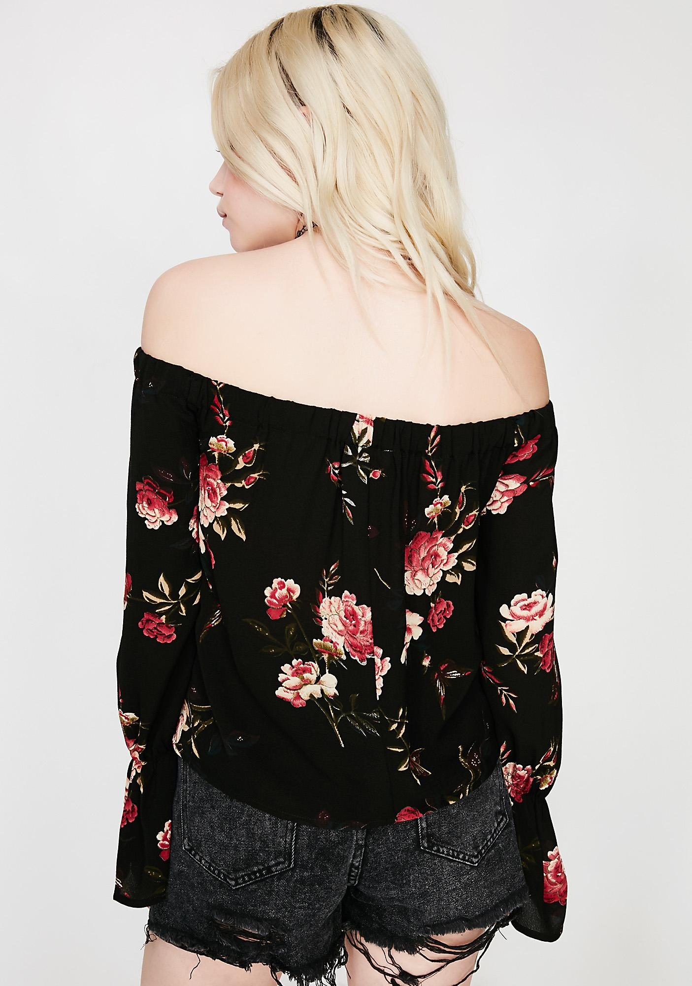 Bouquet Catcher Off Shoulder Top