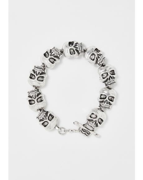 Catacomb Maze Skull Bracelet