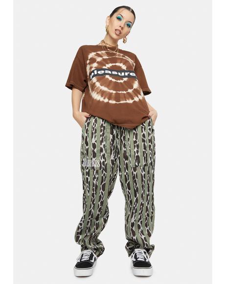 Bloom Leopard Striped Beach Pants