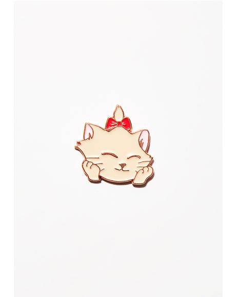 Glad Kitty Lapel Pin