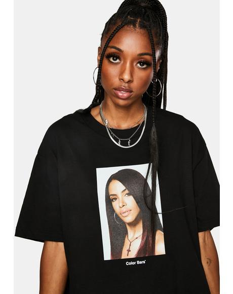 x Aaliyah Portrait Tee