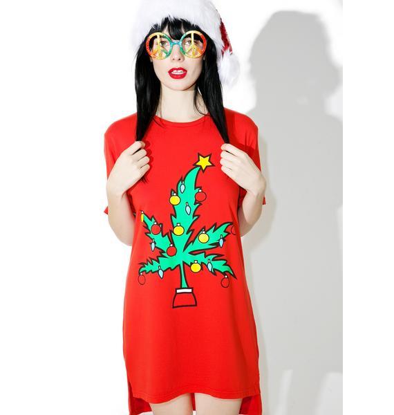 MeYouVersusLife Weed Tree Hi Lo Tee