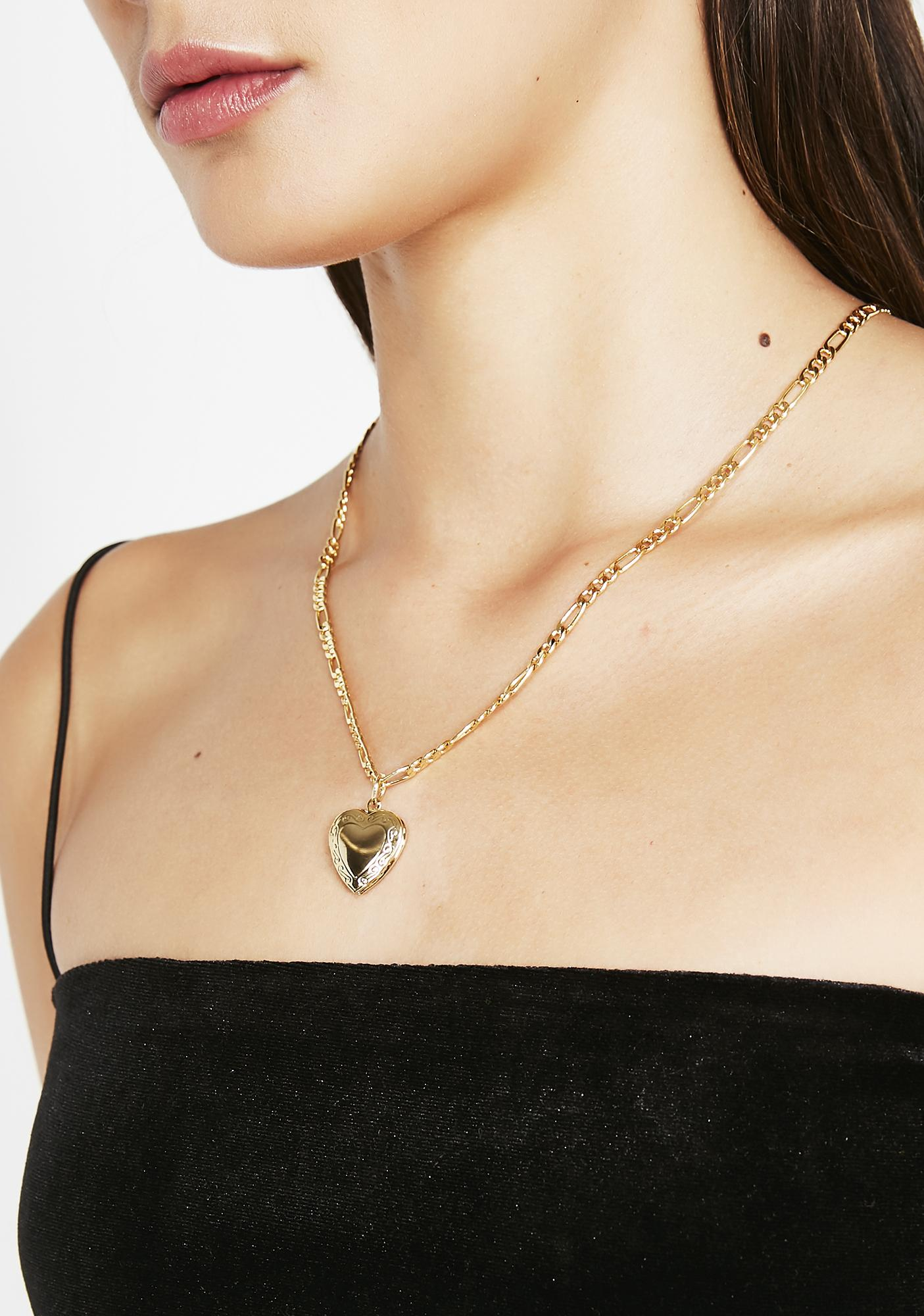 Love Me Forever Heart Necklace
