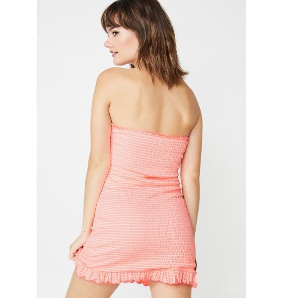 Picnic Day Strapless Dress