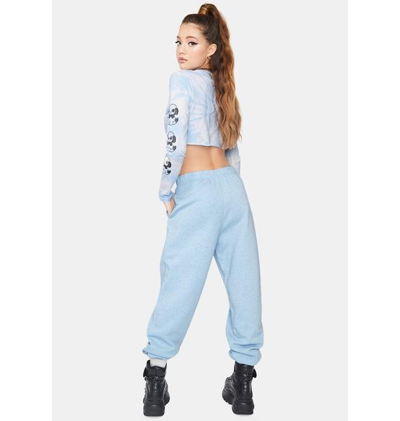 NEW GIRL ORDER Blue Kanji Jogger Sweatpants