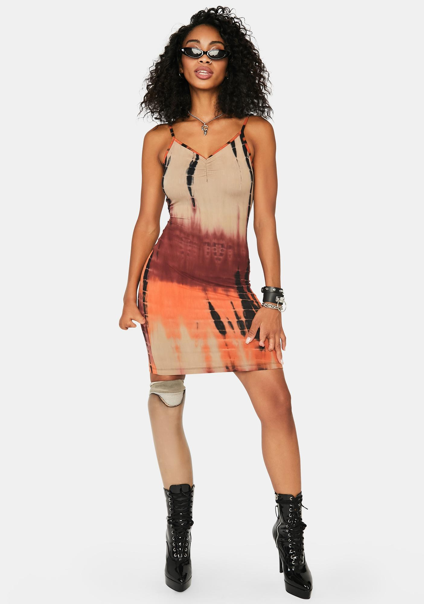 You're Obsessed Tie Dye Dress