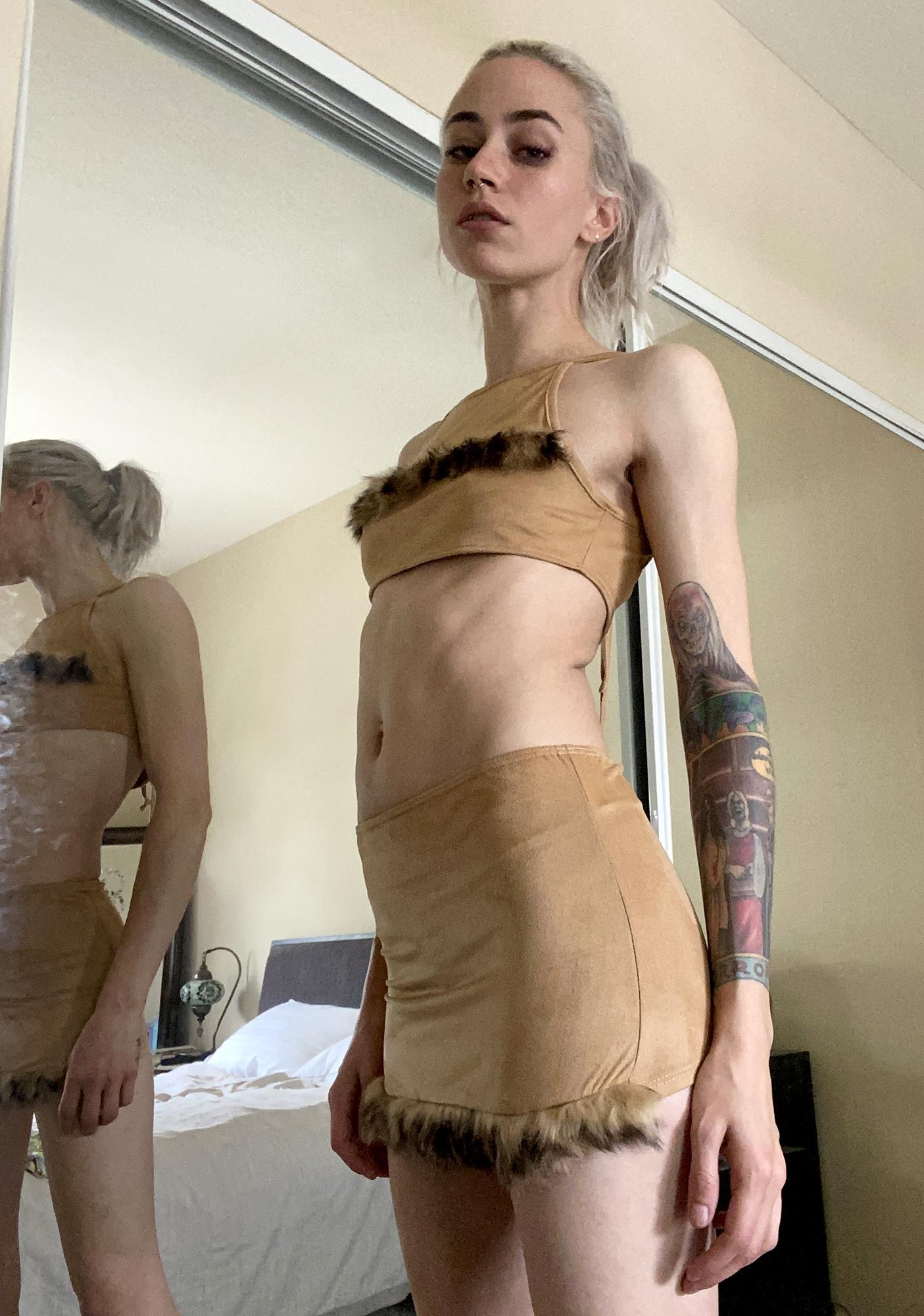 Primal Energy Suede Skirt