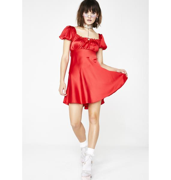 Sugar Thrillz Dolled Up Satin Dress