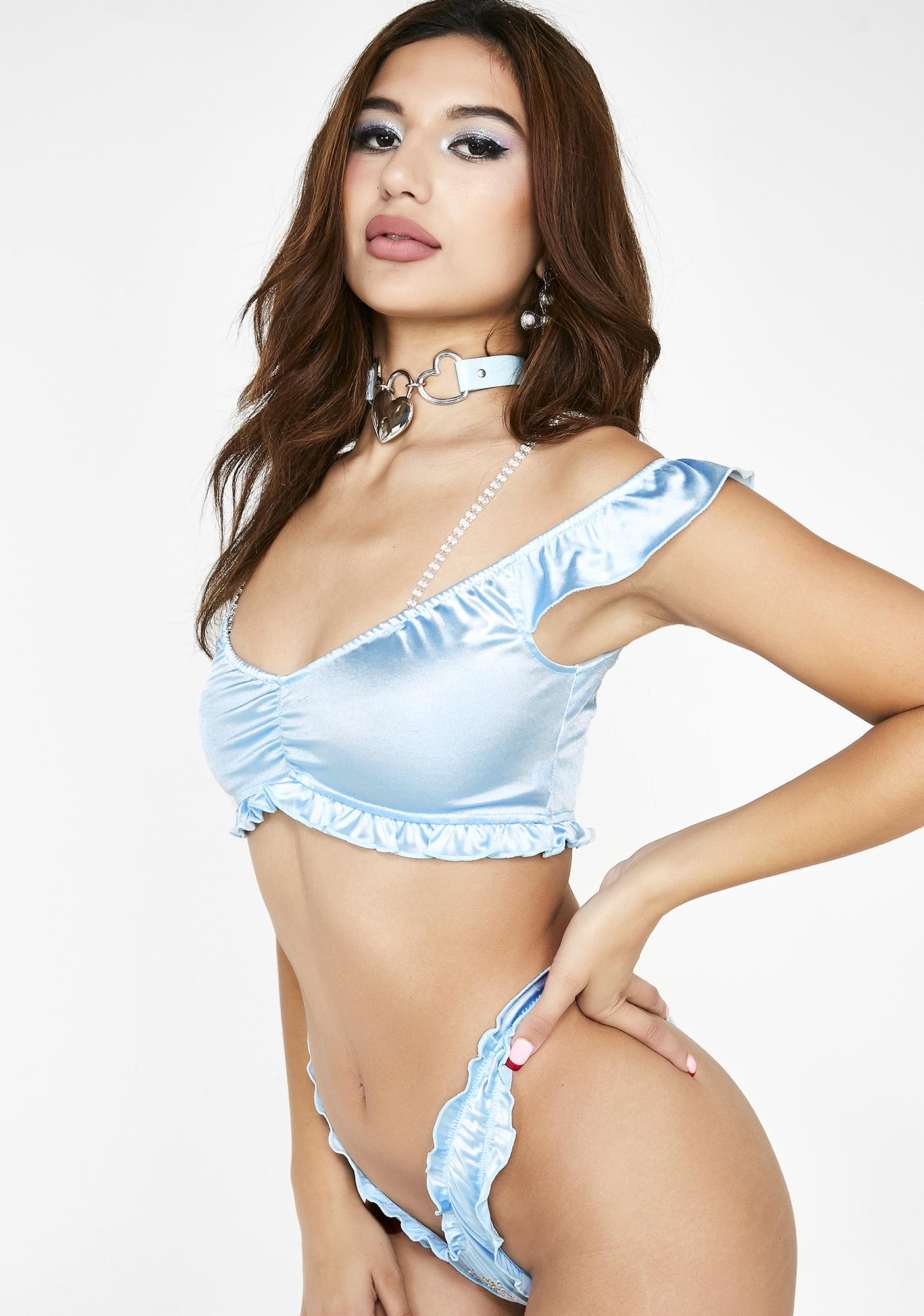 Sugar Thrillz Angelic Reign Satin Set