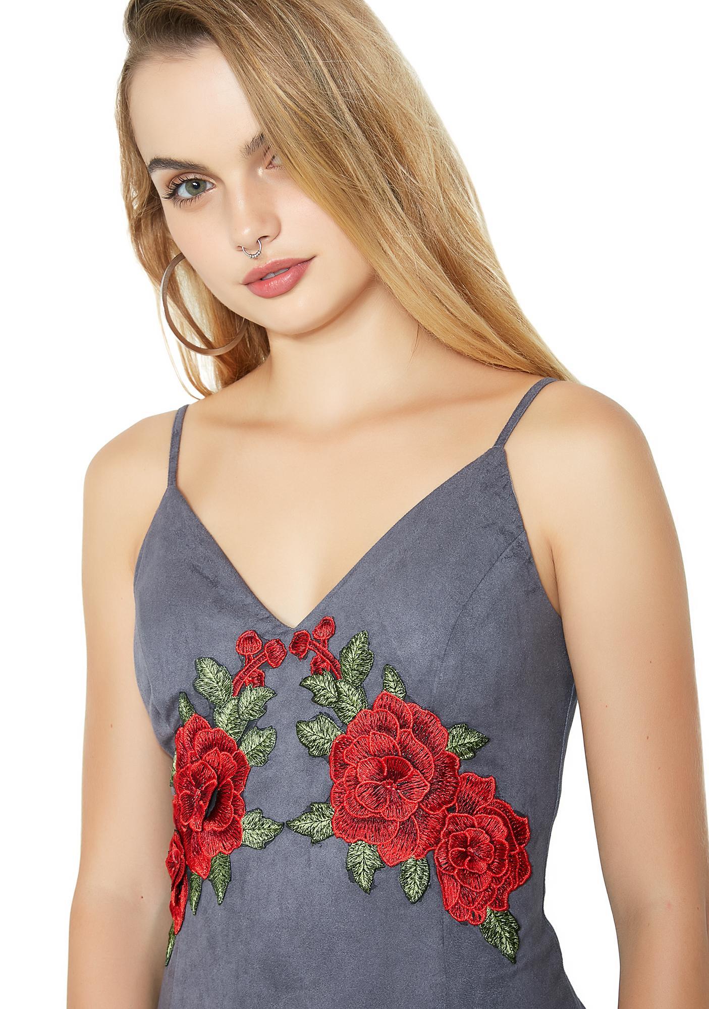 Flower Baby Rose Mini Dress