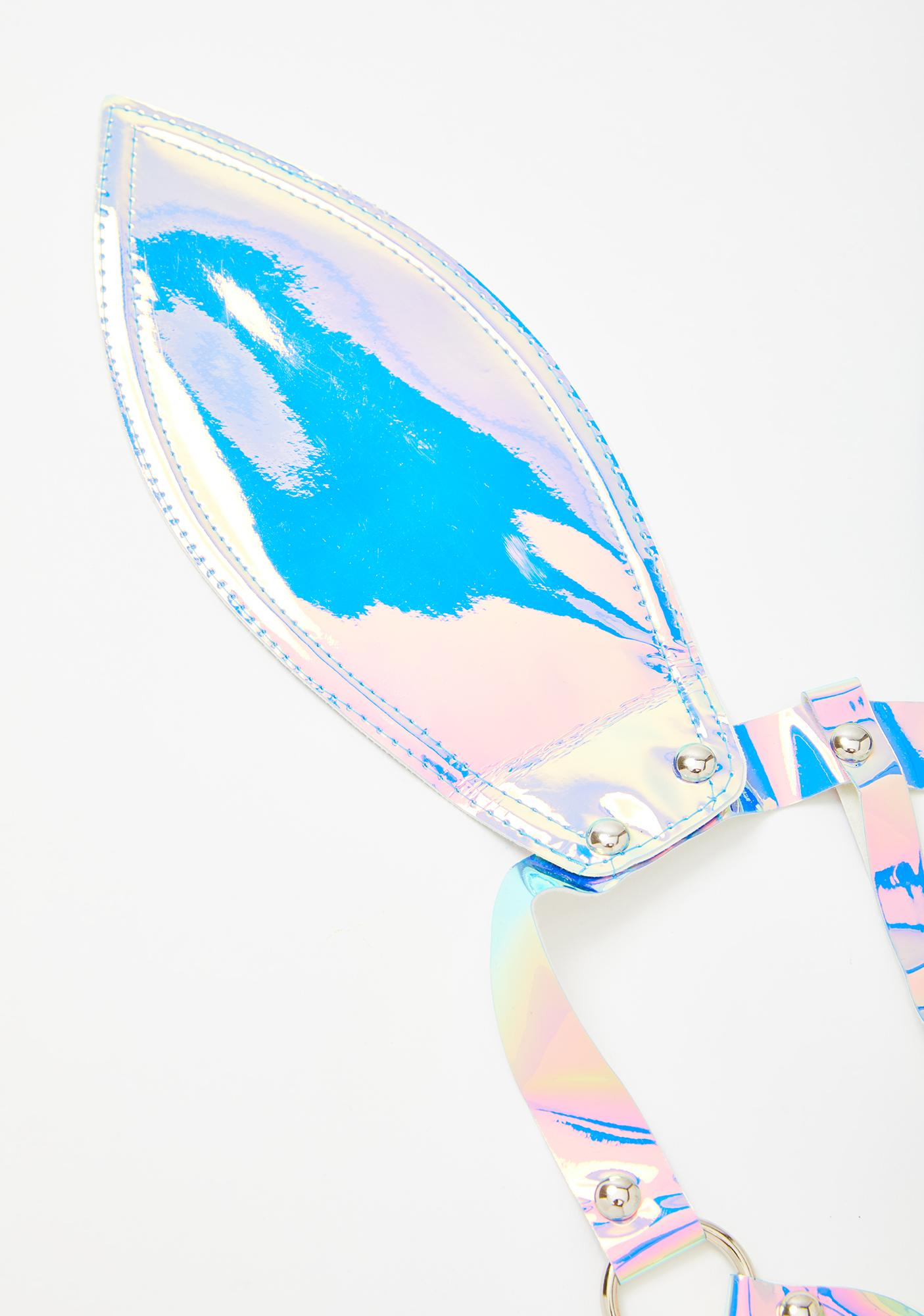 Rave Bunny Holographic Mask