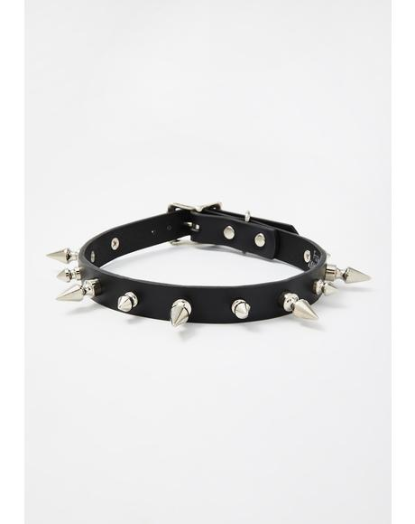 Sinful Pleasure Spike Choker