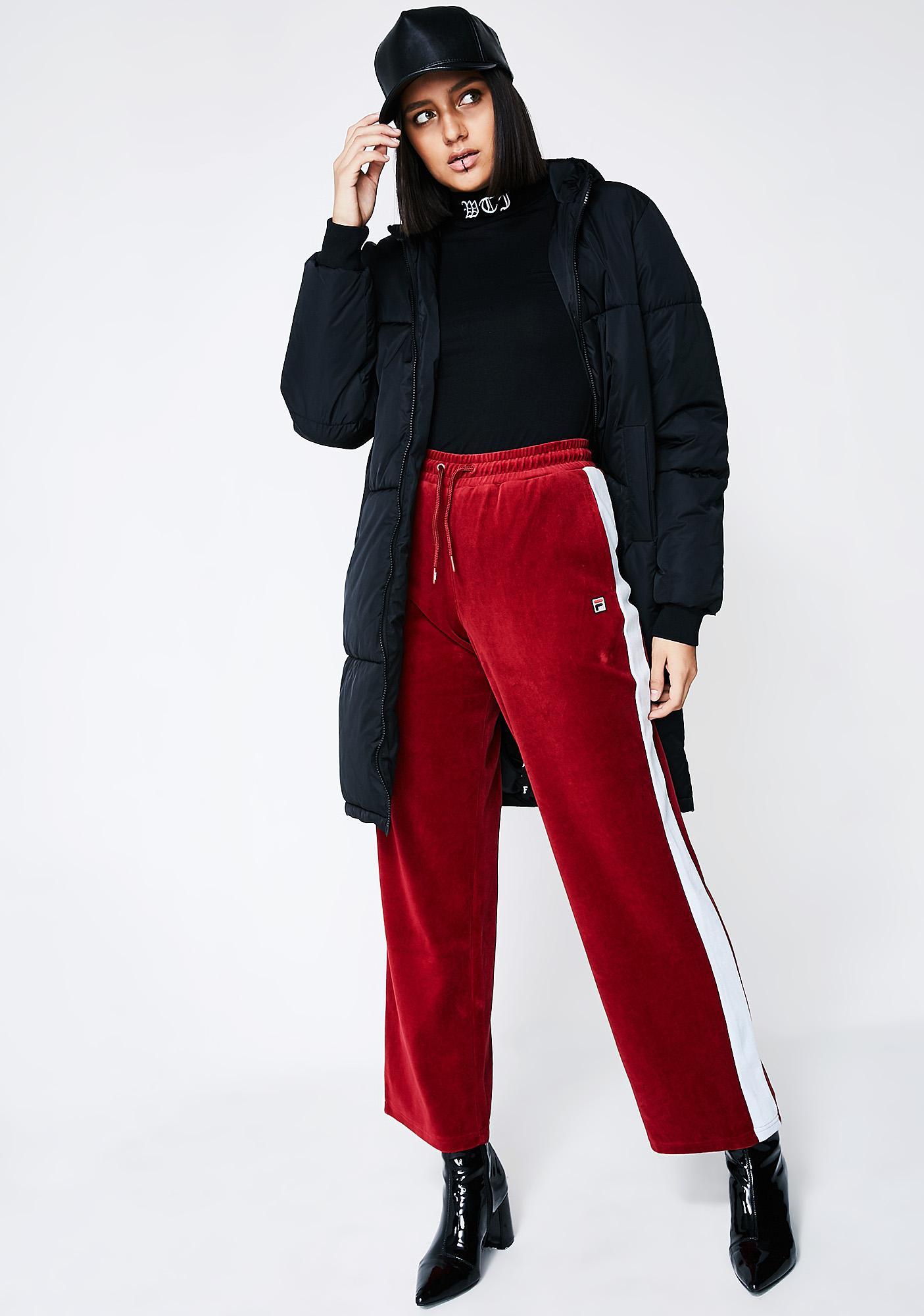 Fila Bonnie Velour Pants