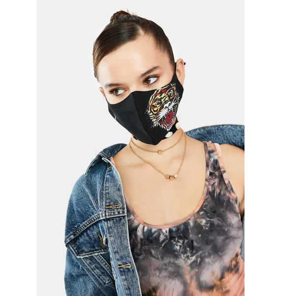 Ed Hardy Tiger Head Face Mask