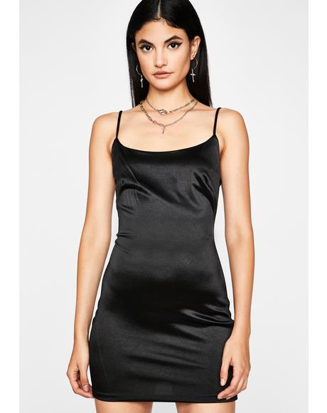 Usual Suspects Satin Mini Dress