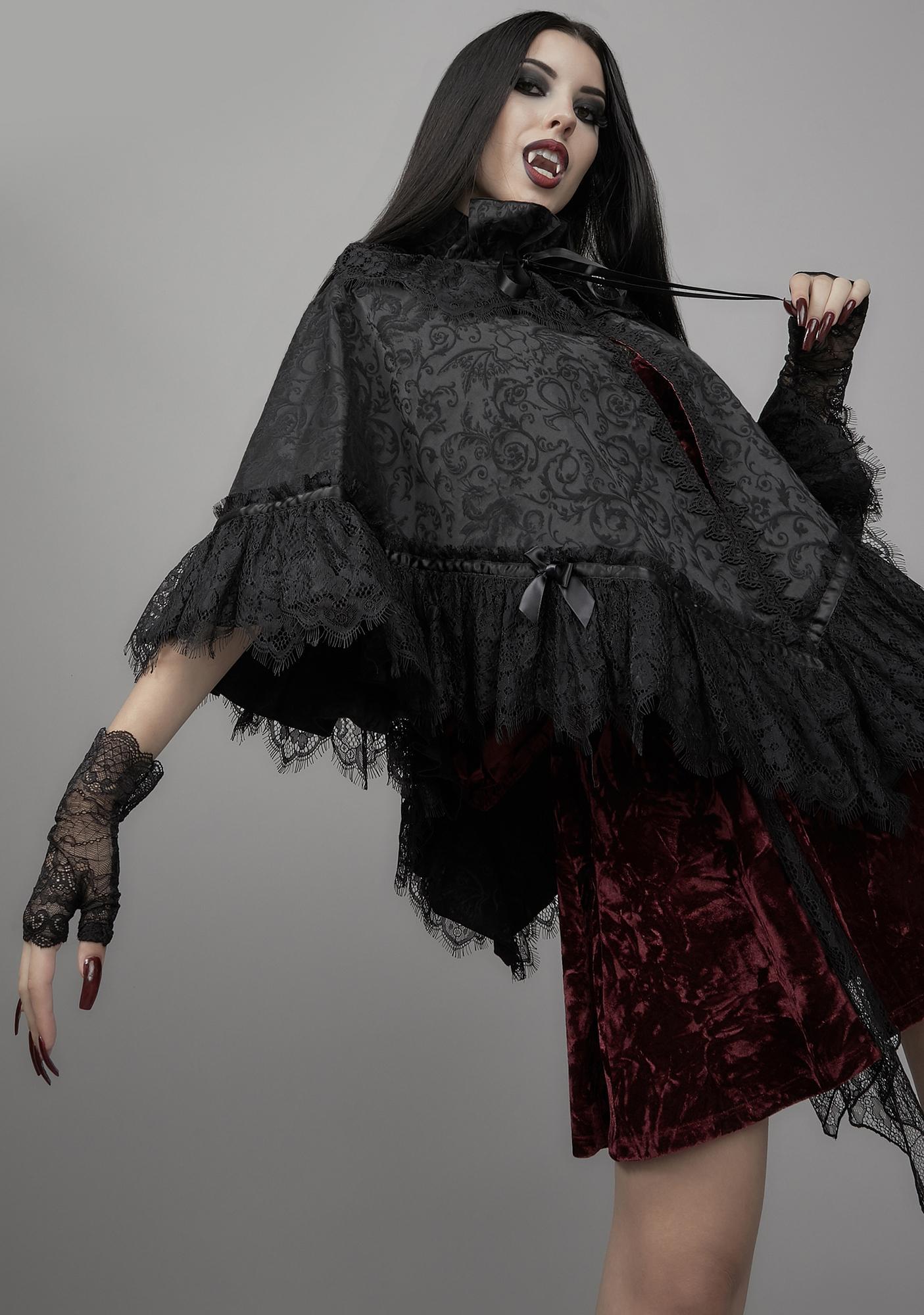 Widow Dark Bidding Brocade Cape