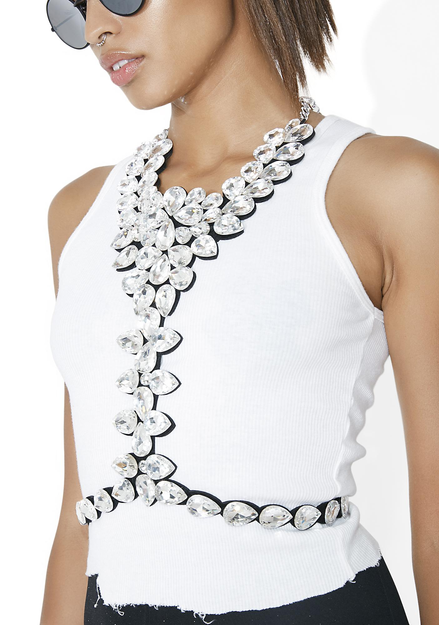 Cold As Ice Rhinestone Bodychain