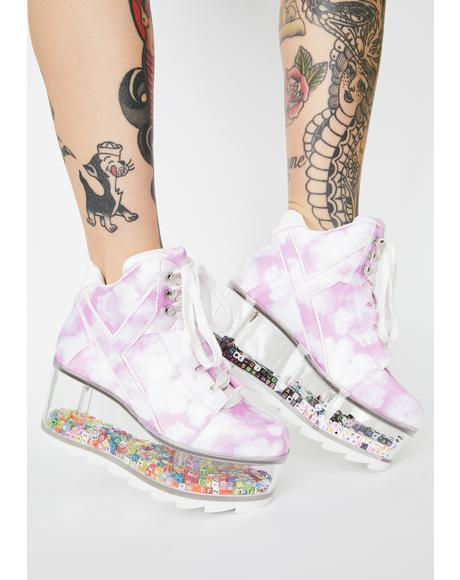 Pink Qozmo Aiire Qloud Platform Sneakers
