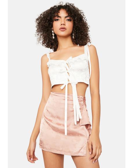 Dusty Rose Mini Skirt