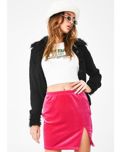 Pink Cheri Split Skirt